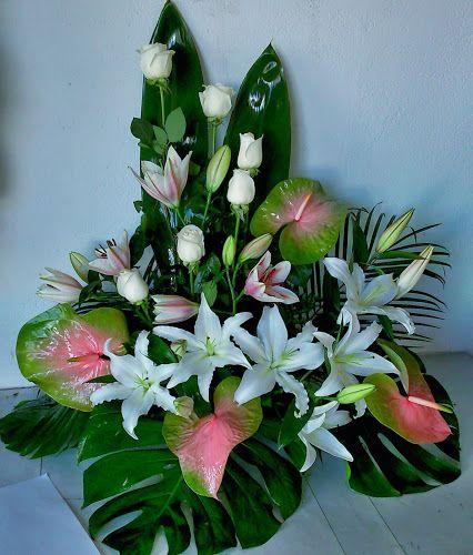 Centros de flores para el dia de todos los santos - Hacer un centro de flores ...