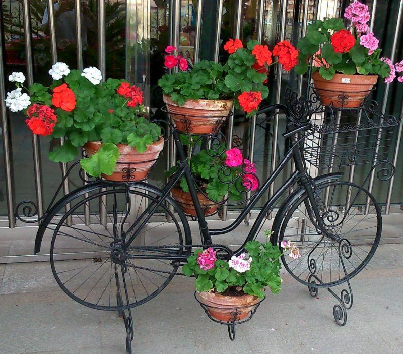 Bicicletas cl sicas para boda for Adornos metalicos para jardin