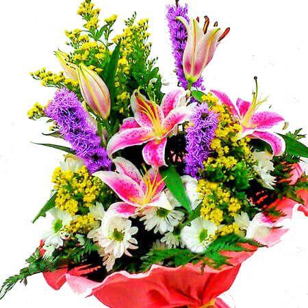 Ramo flores para regalar env o a domicilio en el d a - Ramos de flores grandes ...
