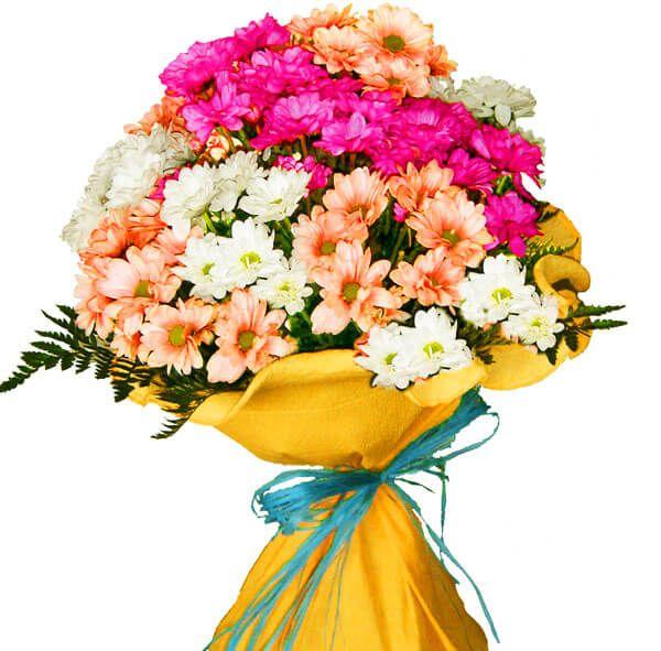 Ramo Flores Margaritas De Colores Envio Domicilio En El Dia