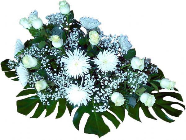 Centro De Flores De Difuntos De Color Blanco Envio A Funeraria