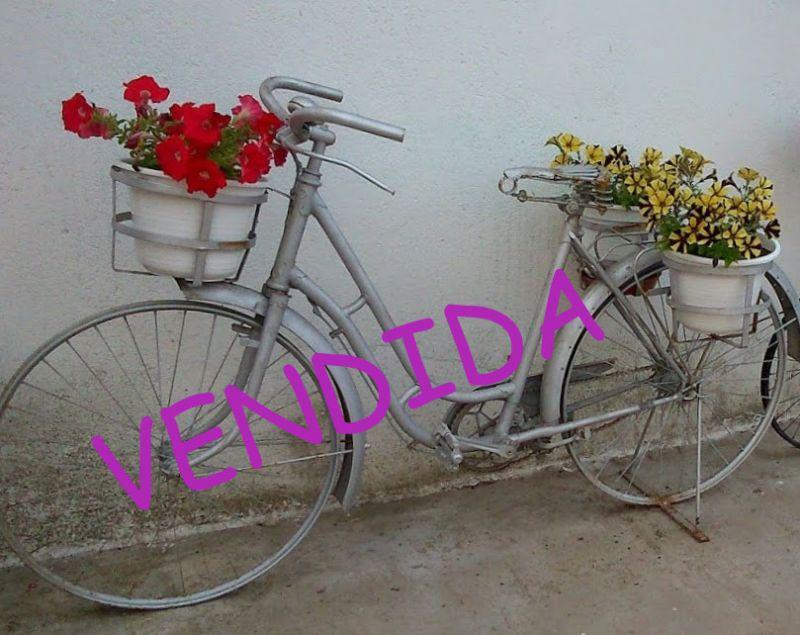 Bicicleta antigua de jardin - Bicicleta macetero ...