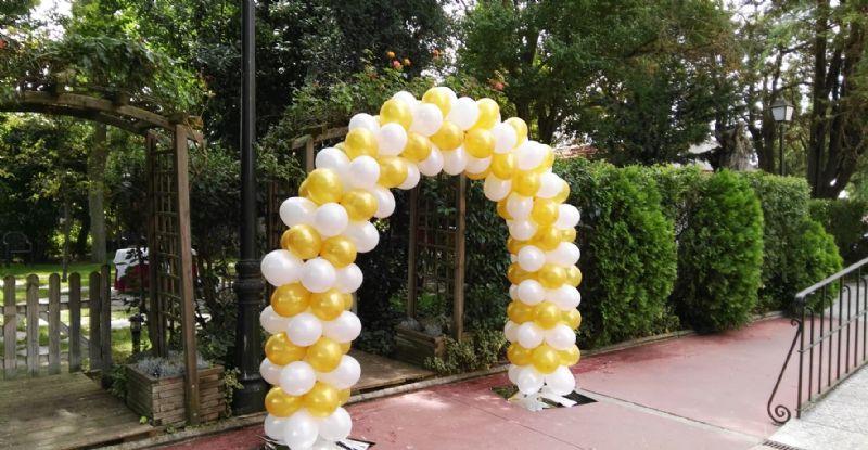 Arcos de globos para bodas y decoraciones con globos en Zamora
