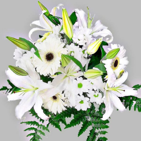 Ramos De Flores Blancas Envio A Domicilio En El Dia - Fotos-ramos-de-flores